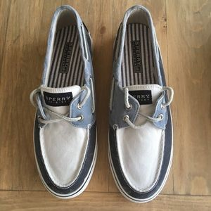 Sperry Top-Sider Canvas Two Tone Boat Shoes, 7.5